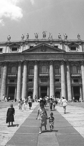 Pedestrian scene, St. Peter's Basilica, Rome