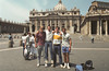 Me and my tall buddies, St. Peter's Square, Rome