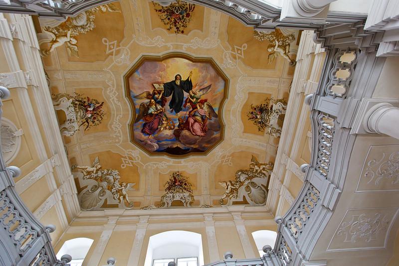Ceiling of the Garden House at Melk Abbey, Austria