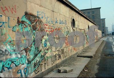The Berlin Wall in Feb. 1991.