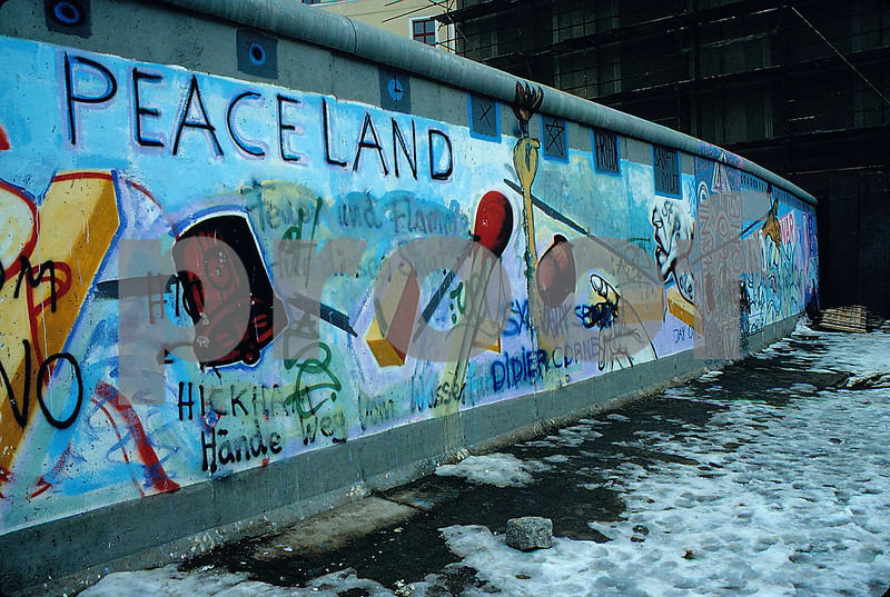 The Berlin Wall in Feb. 1991.