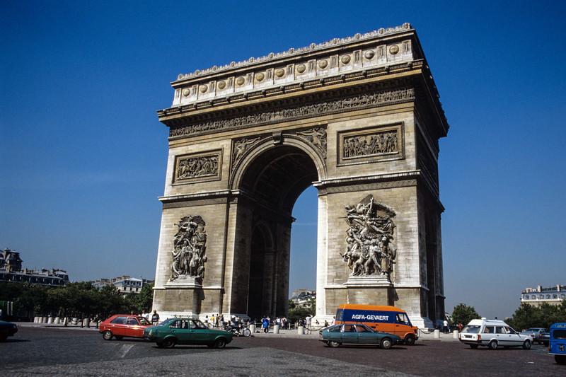 Arch de Triumph in Paris - August 1985
