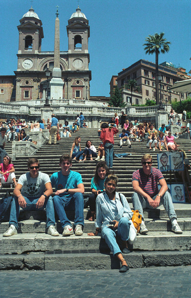 Friends on the Spanish Steps, Rome