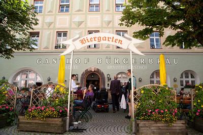 Burgerbrau Biergarten, Bad Reichenhall Germany