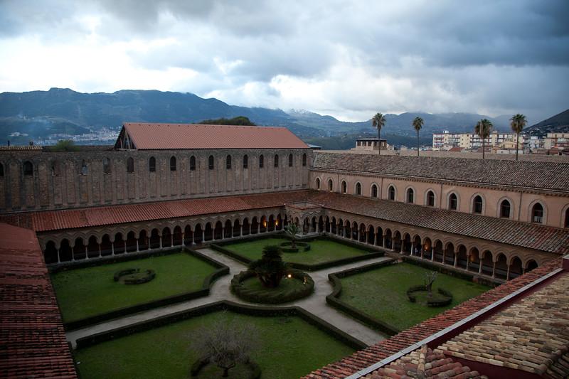 Overlooking Monreale Abbey Courtyard, Monreale Sicily