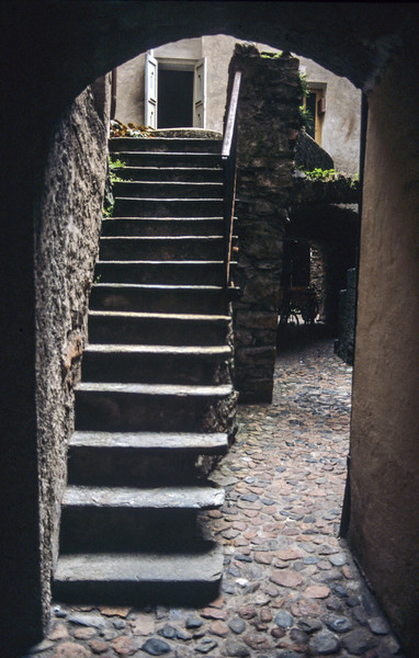 Stairs outside of lodgings for the night - August 1985