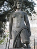 Nice art deco woman with prominent nipples at the Castle of São Jorge.