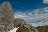 Trekking amongst the limestone mountains of Picos de Europa. Spain.