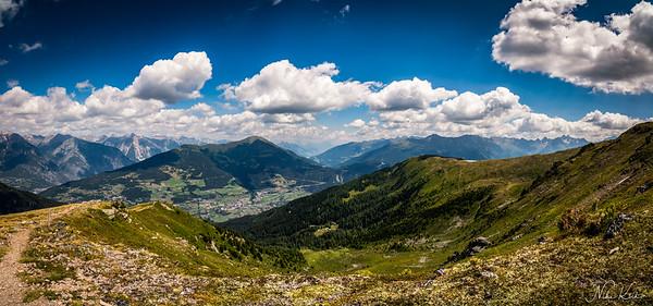 TYROL: Fiss Schönjochtal Panorama (5-image stitch)