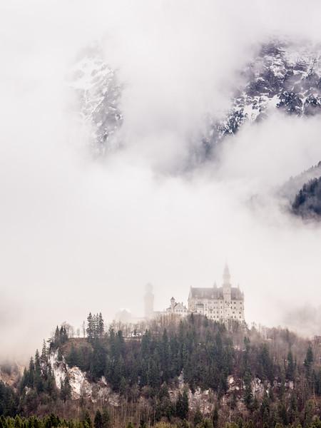 Neuschwanstein in the Clouds (Bavaria)
