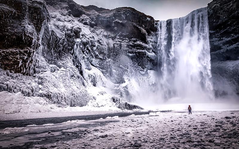 Frozen Skogafoss
