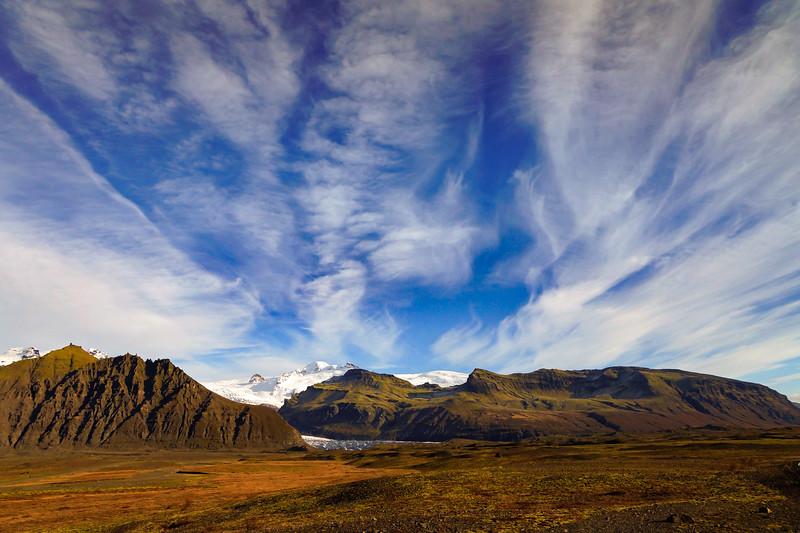 Svinafellsjokull Clouds