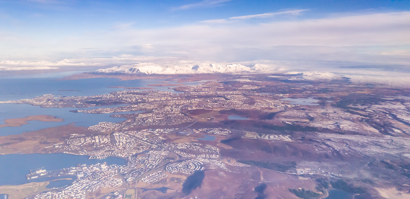 Reykjavik from the Plane