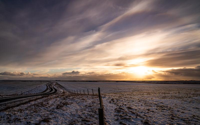 Frosty Iceland Sunset