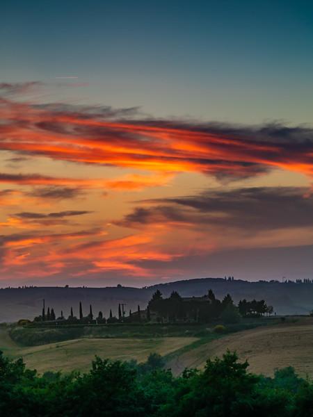 Tuscan Sunset Portrait