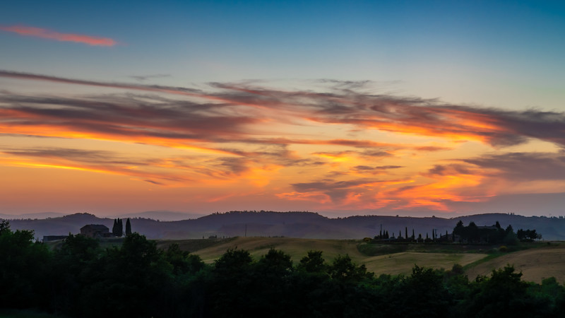 Tuscan Sunset Panorama