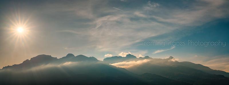 Liechtenstein Alpine Panorama