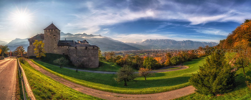Vaduz Castle Panorama