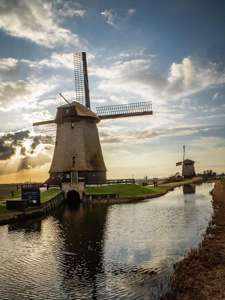 Windmill Sunset Portrait
