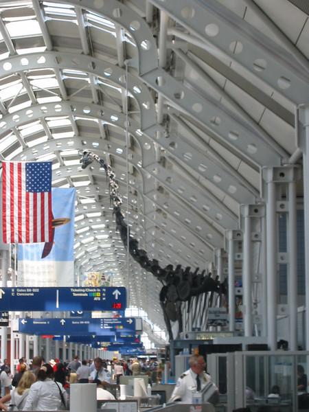 Dinosaur at Chicago O'Hare
