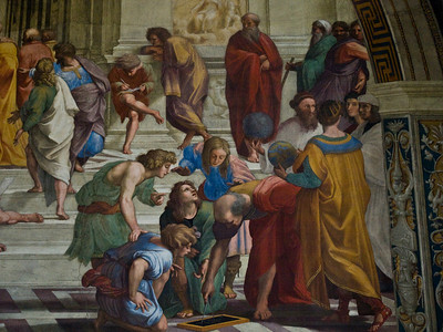 Rome - Raphael's self portrait (with the black beret on the right)