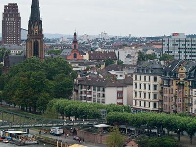 Frankfurt - semi aerial view