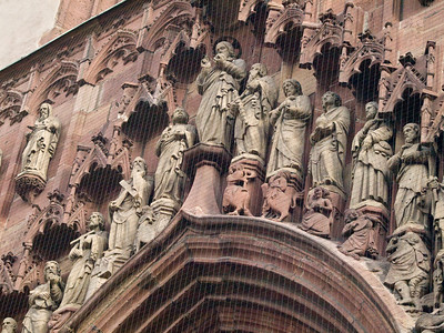 Frankfurt - detail of Church wall