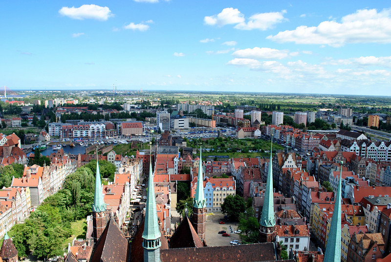 Atop St. Mary's church, Gdańsk