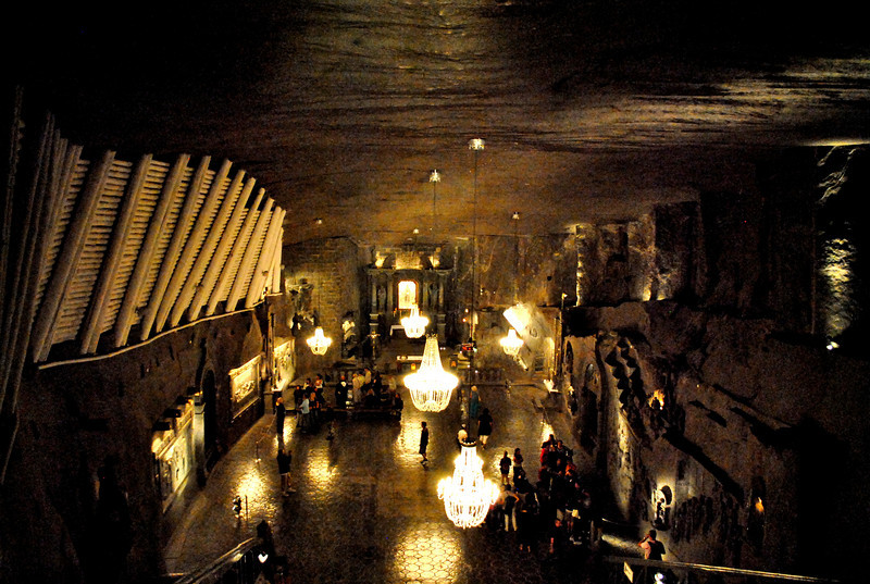 Underground cathedral carved by salt miners--Wieliczka, Poland