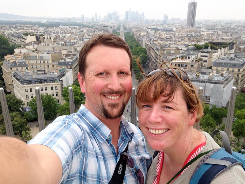 Euroselfie: Arc du Triomphe Top