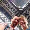Euroselfie: Eiffel Tower Bottom