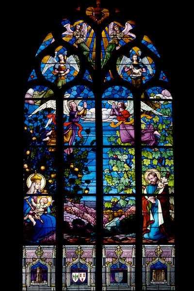 Stained Glass Window - Rochefort Church