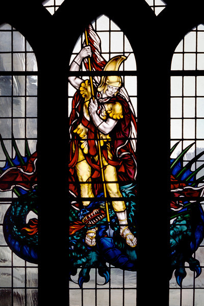Saint George<br /> <br /> Day 68 (cont.) - Stained glass - Exeter Cathedral