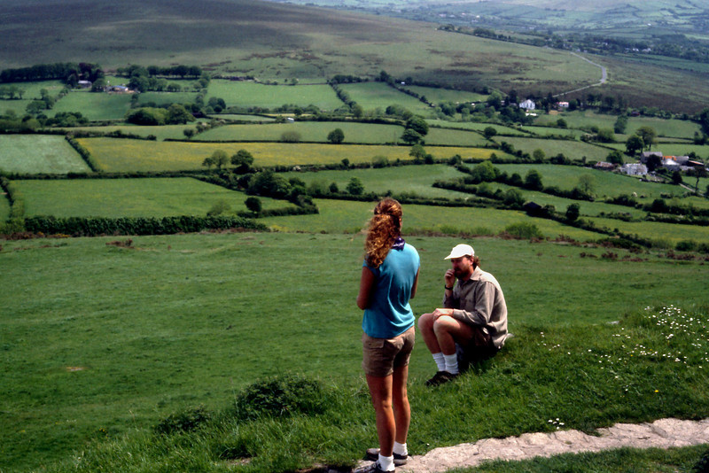 Lisa and Tim - View  from Brentor