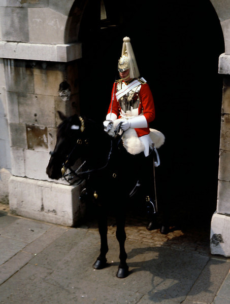 "Mounted Royal Guard, London, England.<br /> <br /> NEXT: Click the link below to see Switzerland<br /> <a href=""https://garywright.smugmug.com/Travel/European-Bicycle-Tour/Switzerland/"">https://garywright.smugmug.com/Travel/European-Bicycle-Tour/Switzerland/</a>"