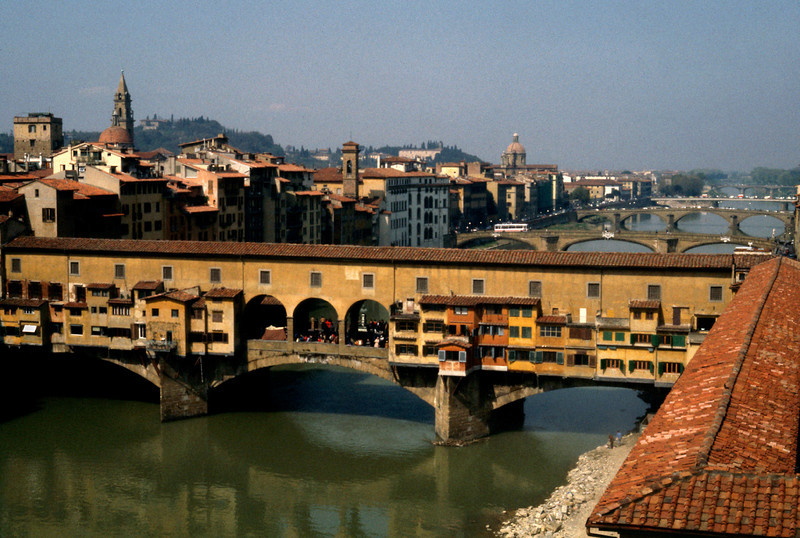 Ponte Vecchio over the River Arno in Florence Italy