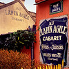 "Au Lapin Agile, Montmartre, Paris, France, 2001. There is a play by Steve Martin, the comedian, ""Picasso at the Lapin Agile,"" inspired by this iconic Montmartre ""boite."""