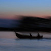 Smugglers in the dusk, Sulina, 2005