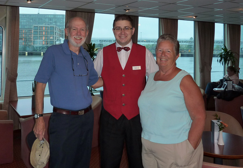 Our favorite staff member on the Viking Danube - George from Romania