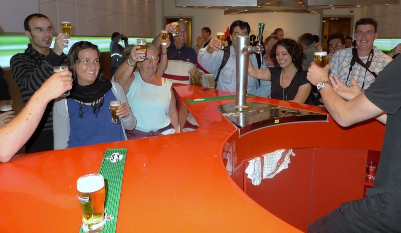 Part of the Heineken brewery experience