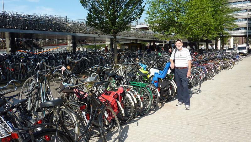Bike parking 'garage' outside our hotel