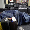 Sleeping at Dulles International Airport. At least we got a nice credit on our next flight with United.