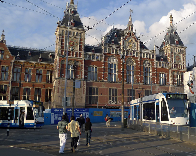 Amsterdam's train station