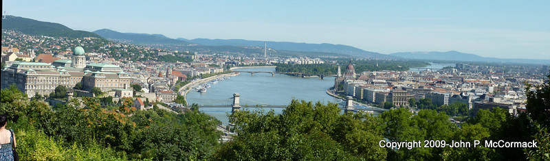 panoramic photo of the city from the Buda side