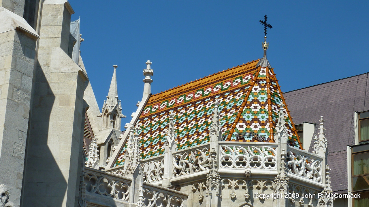 Colorful roof at Fisherman's Bastion