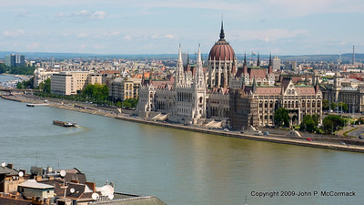 Looking at Parliament from the Buda side