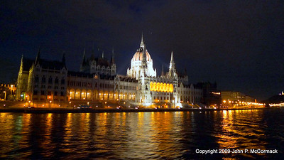 Budapest at night, Parliament