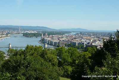Panorama of Budapest with Elizabeth Island in background