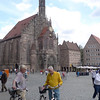 The Frauenkirche (Church of our lady) as seen from the Hauptmarkt