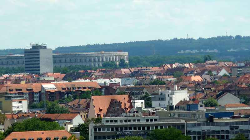 Overview of Nuremburg with the enormous Party Congress building in the background